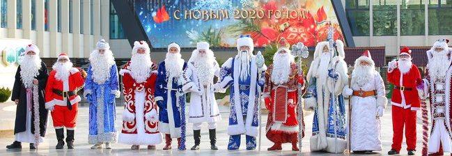 В юбилейный год самые первые поздравления «Артек» получил от Дедов Морозов разных стран